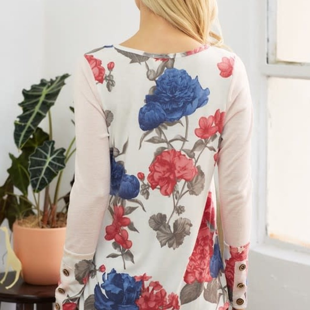 Lovely Melody Get Ready for Spring Blush Floral Top (S-3XL)