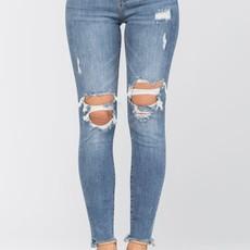 Judy Blue Judy Blue High Rise Knee Destroyed Skinnies (5/27-15/32)