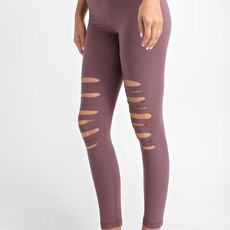 Rae Mode Dark Mauve Slit Leggings (S-L)
