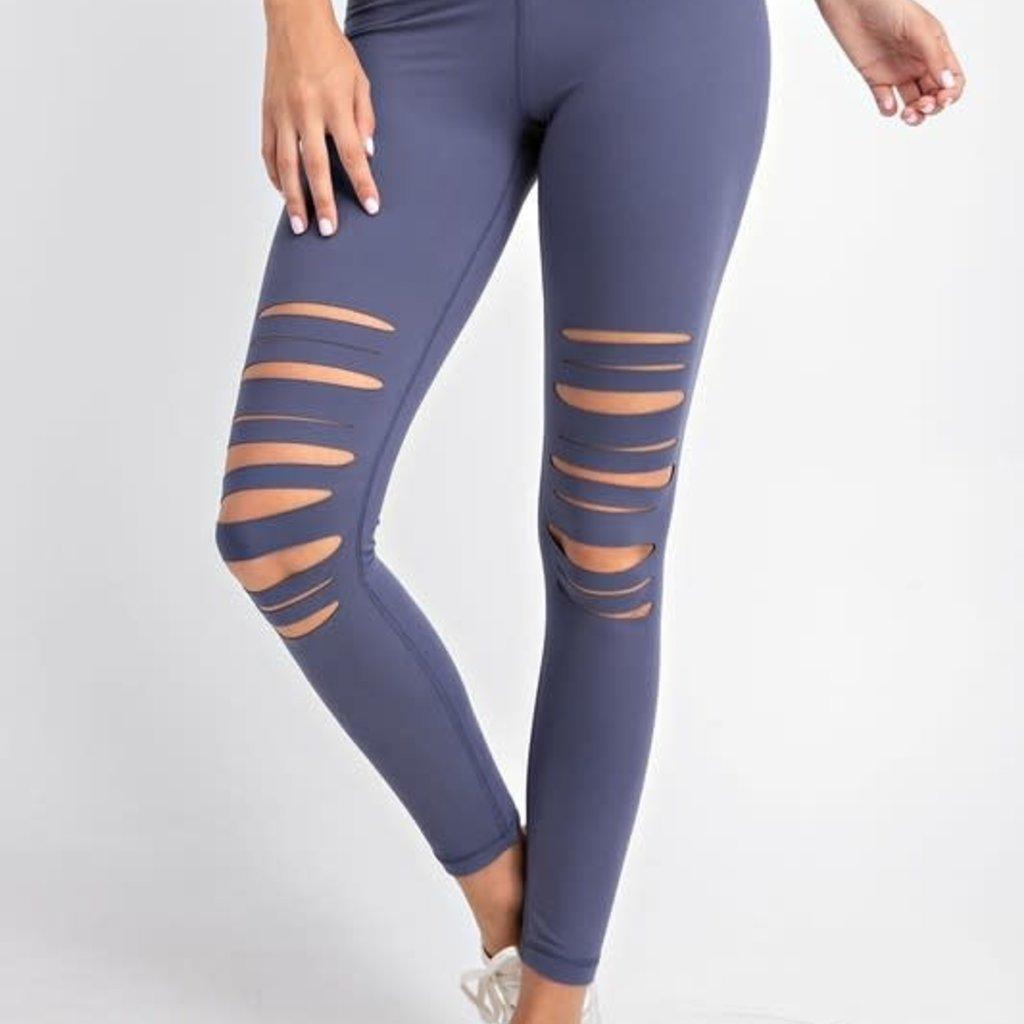 Rae Mode Vintage Denim Slit Leggings (S-3XL)