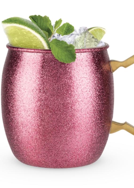 Blush Pink Glitter Moscow Mule Mug