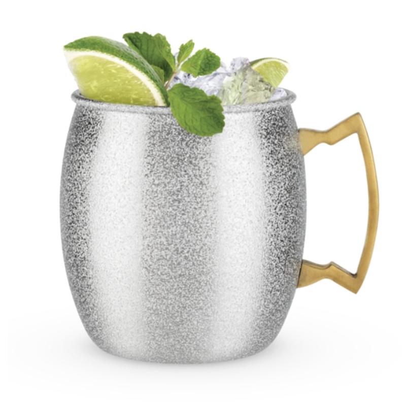 Blush Silver Glitter Moscow Mule Mug