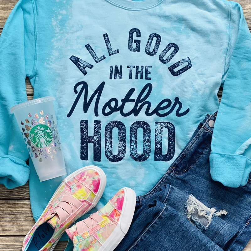 Jerzees Brand Teal All Good in the Motherhood Crew (S-2XL)