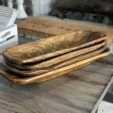Sincere Surroundings Rustic Wood Dough Bowls