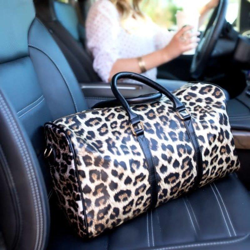 Dani & Em Leopard Weekender Bag