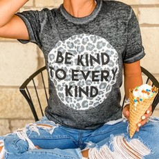 Oliver & Otis Be Kind Leopard Burnout Tee (S-3XL)