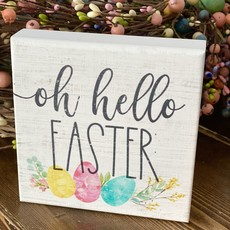 Sincere Surroundings Hello Easter Mini Sign