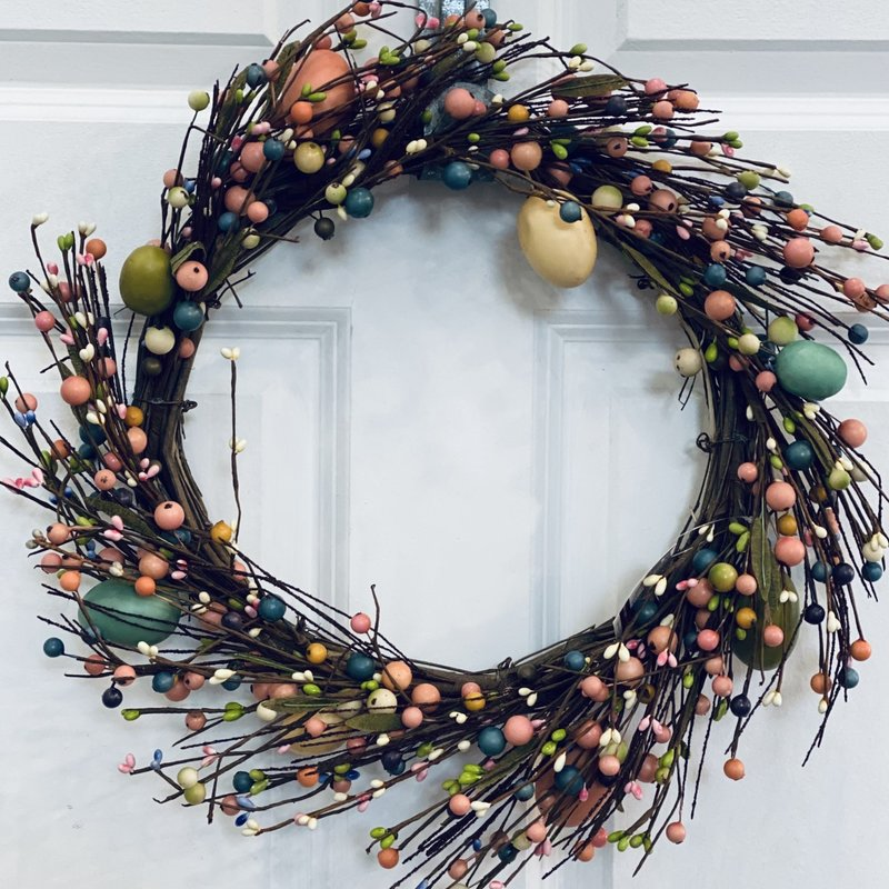 Audrey's Spring Eggs and Berries Wreath