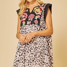 Andree by Unit Embroidered Leopard Dress (S-3X)