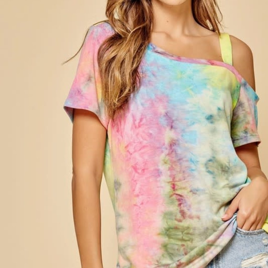 Andree by Unit Tie Dye One Shoulder Top (S-3XL)