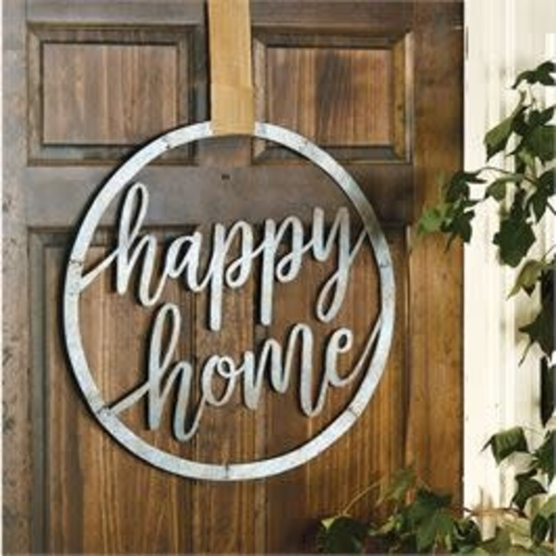 Mud Pie Mud Pie Happy Home Galvanized Tin Door Hanger