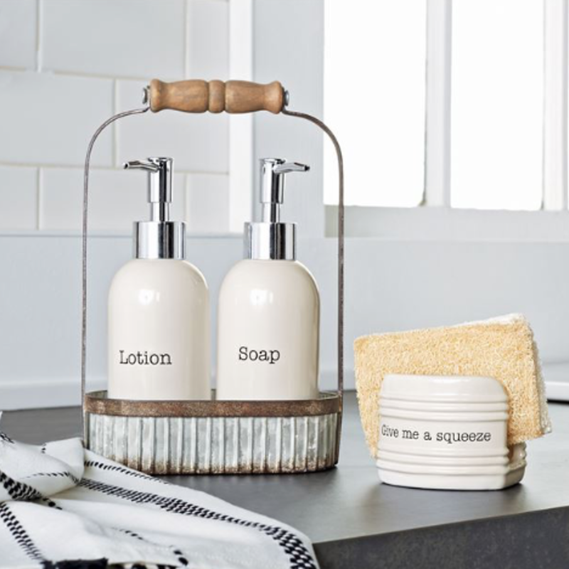 Mud Pie Mud Pie Soap & Lotion Pump Set