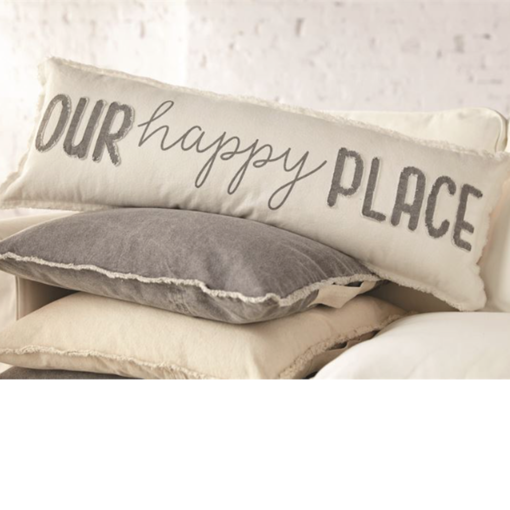 Mud Pie Mud Pie Our Happy Place Long Pillow