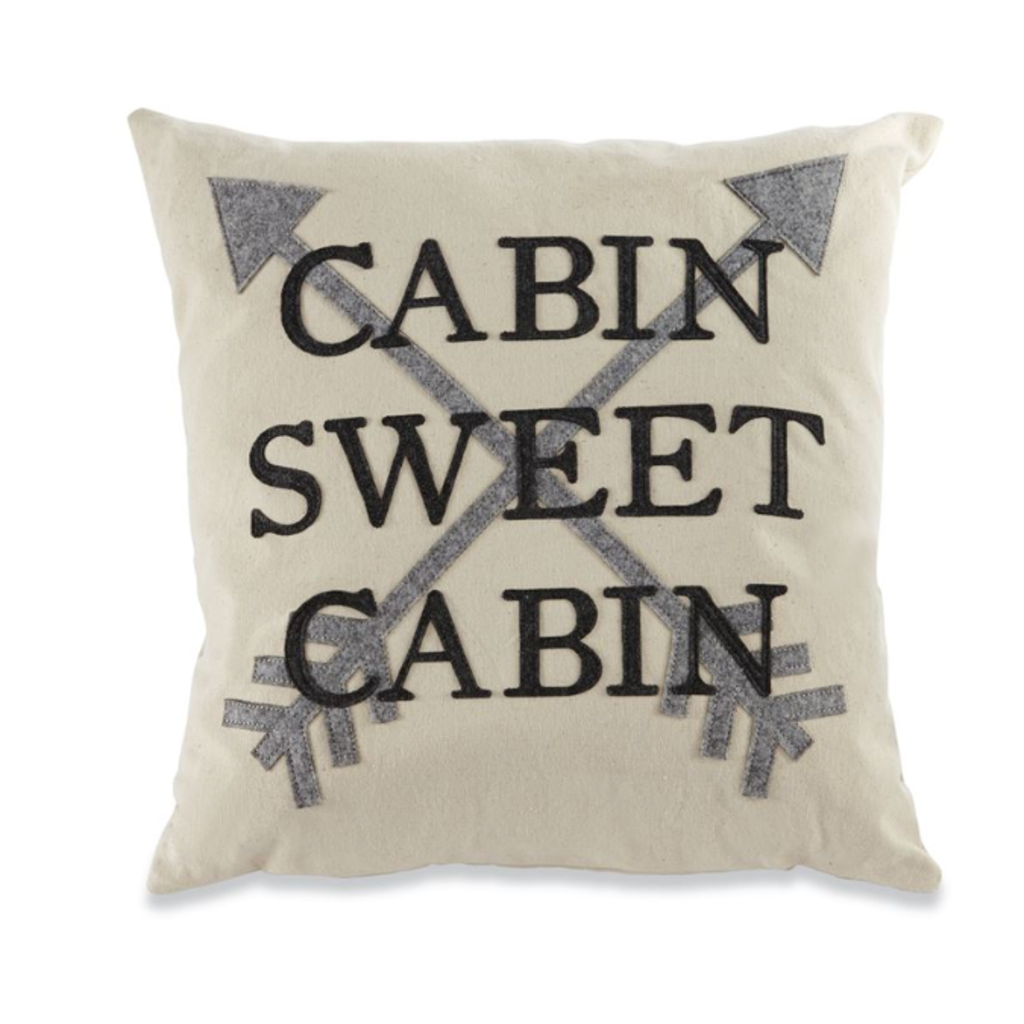 Mud Pie Mud Pie Cabin Sweet Cabin Felt Pillow