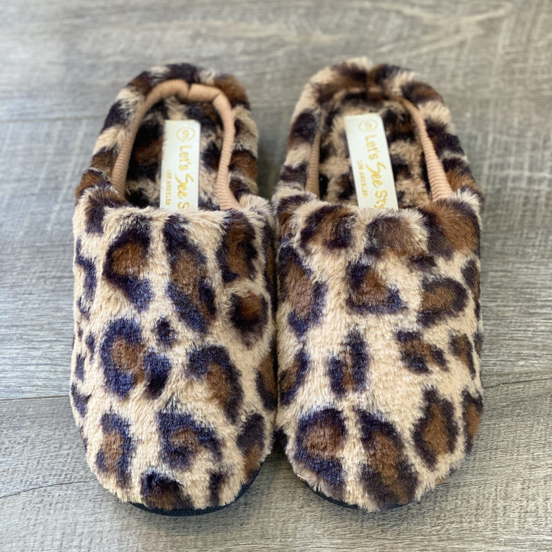 Let's See Style Rubber Soul Leopard Slippers (6-11)