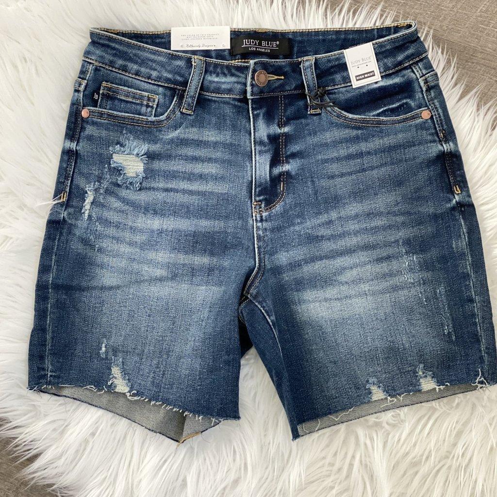 Judy Blue Judy Blue High Rise Mid-Thigh Shorts (S-3XL)