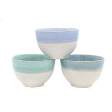 DEI Two-Tone Lake House Bowls (Set of 3)