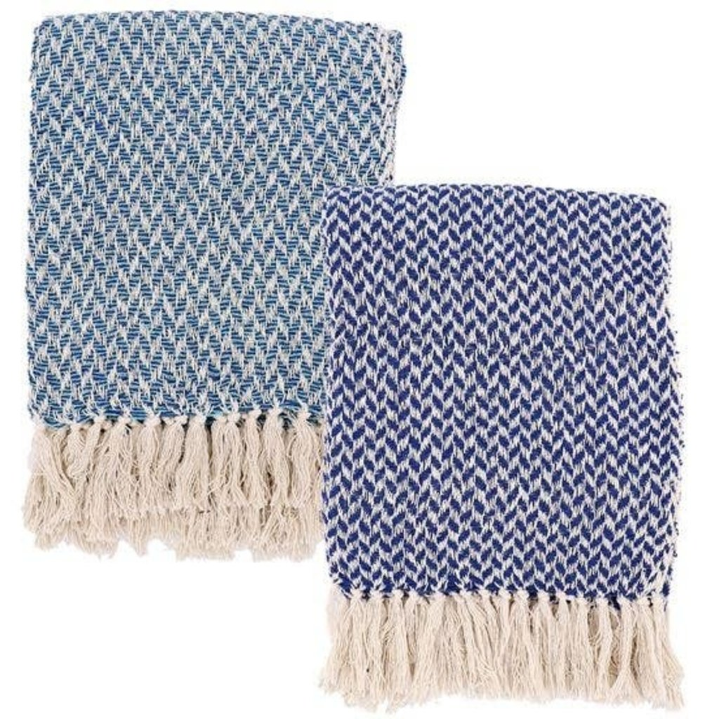 DEI Cozy Cottage Throws (Navy & Teal)