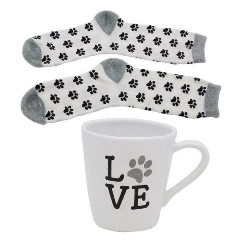 DEI Paw Print Mug & Sock Set