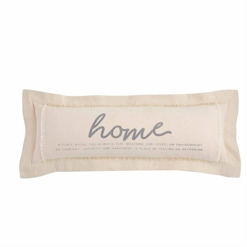 Mud Pie Mud Pie Definition of Home Long Pillow