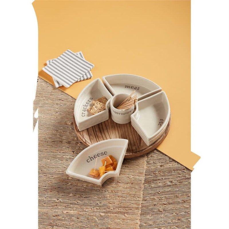 Mud Pie Mud Pie 7-Piece Snack Tray Set