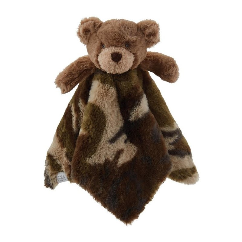 Mud Pie Mud Pie Camo Bear Plush Woobie