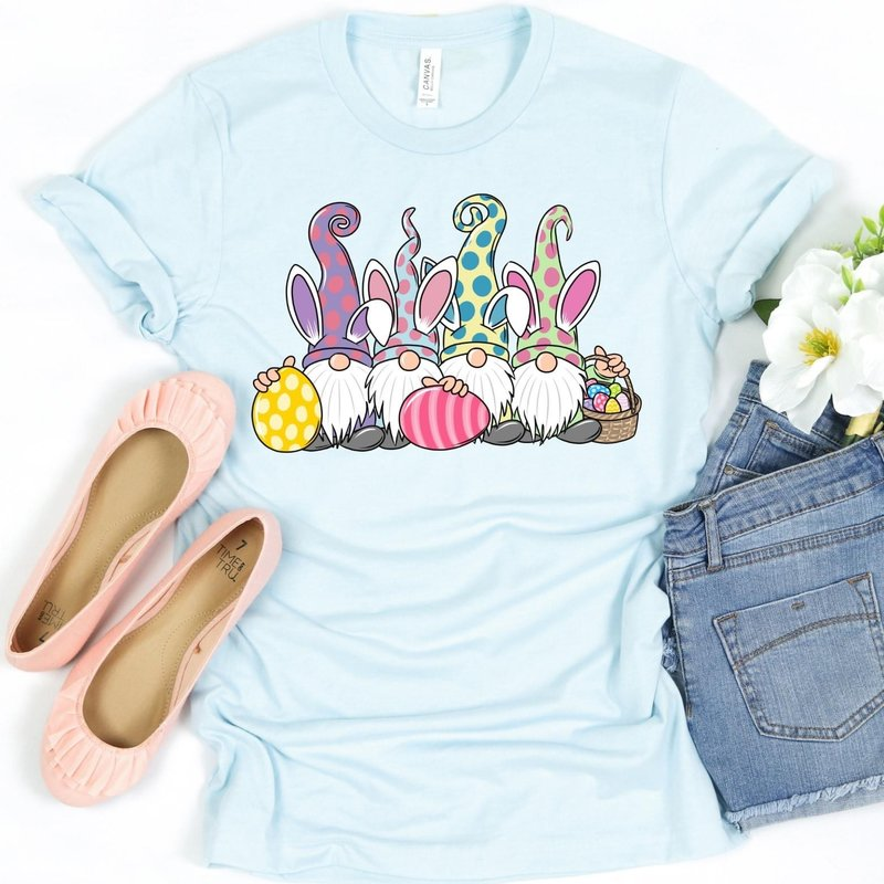 Exclusive Threads Baby Blue Easter Gnome Tee (S-2XL)