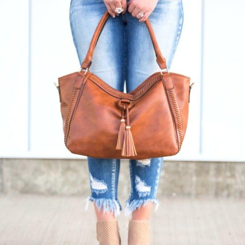 Dani & Em Cognac Envy Handbag
