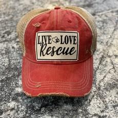 Vintage Soul Live Love Rescue Red Vintage Hat