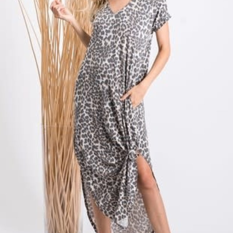 GeeGee Leopard Maxi with Pockets (S-3XL)