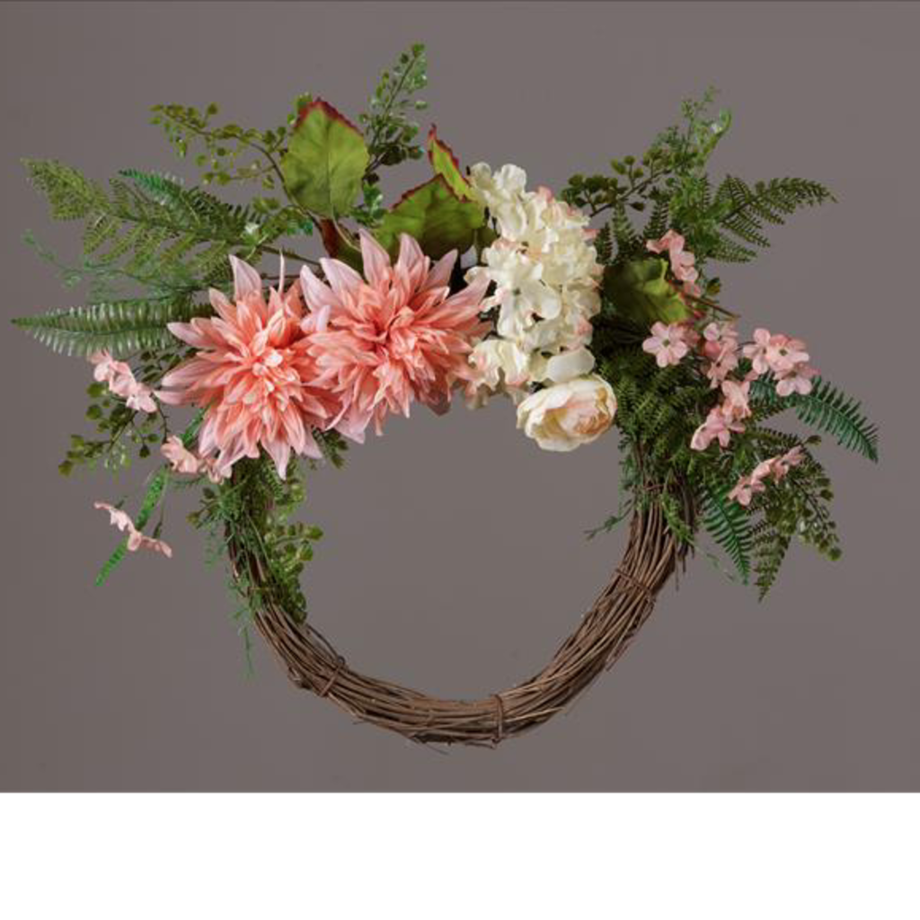 Audrey's Hydrangea & Dahlia Twig Wreath