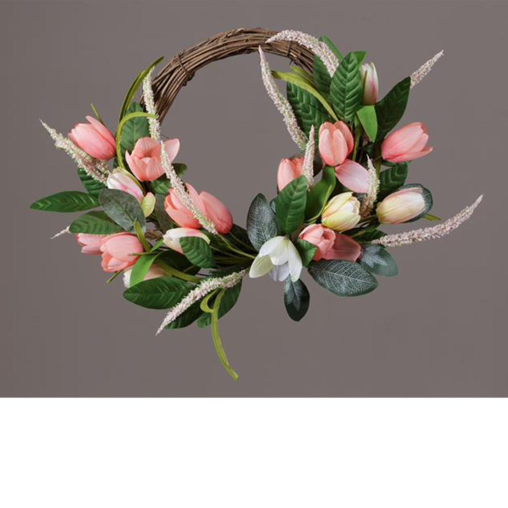 Audrey's Tulips & Foliage Wreath