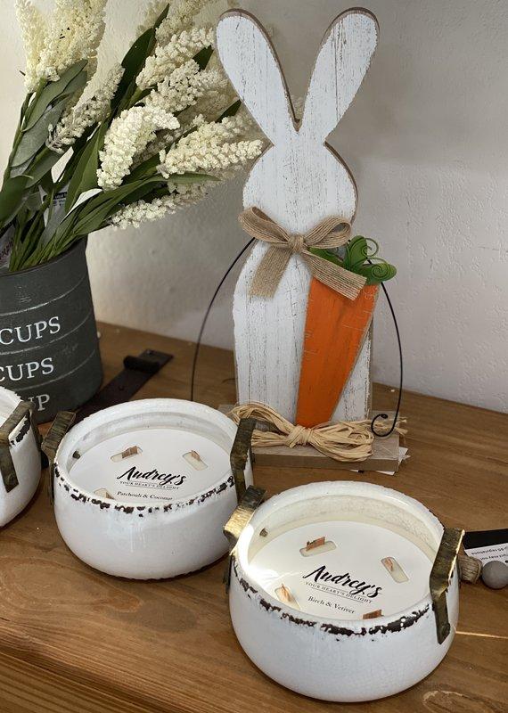 Audrey's Super Scented Ceramic Farmhouse Candles (3 Scents)