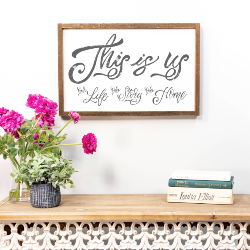 Clairmont & Co This is Us 8x12 Wood Sign