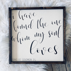 William Rae Designs My Soul Loves Wood Sign