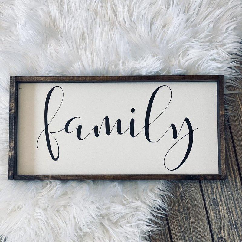 William Rae Designs Family Wood Sign