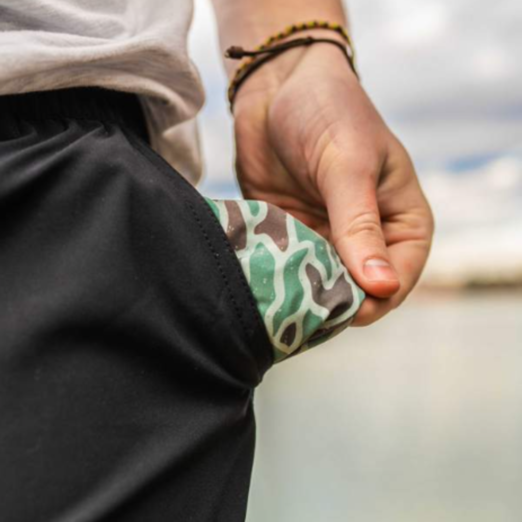 Burlebo Burlebo Matte Black Camo Pocket Shorts (M-2XL)