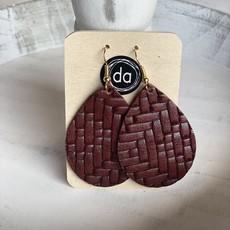 Deer Addie Deer Addie Brick Leather Earrings