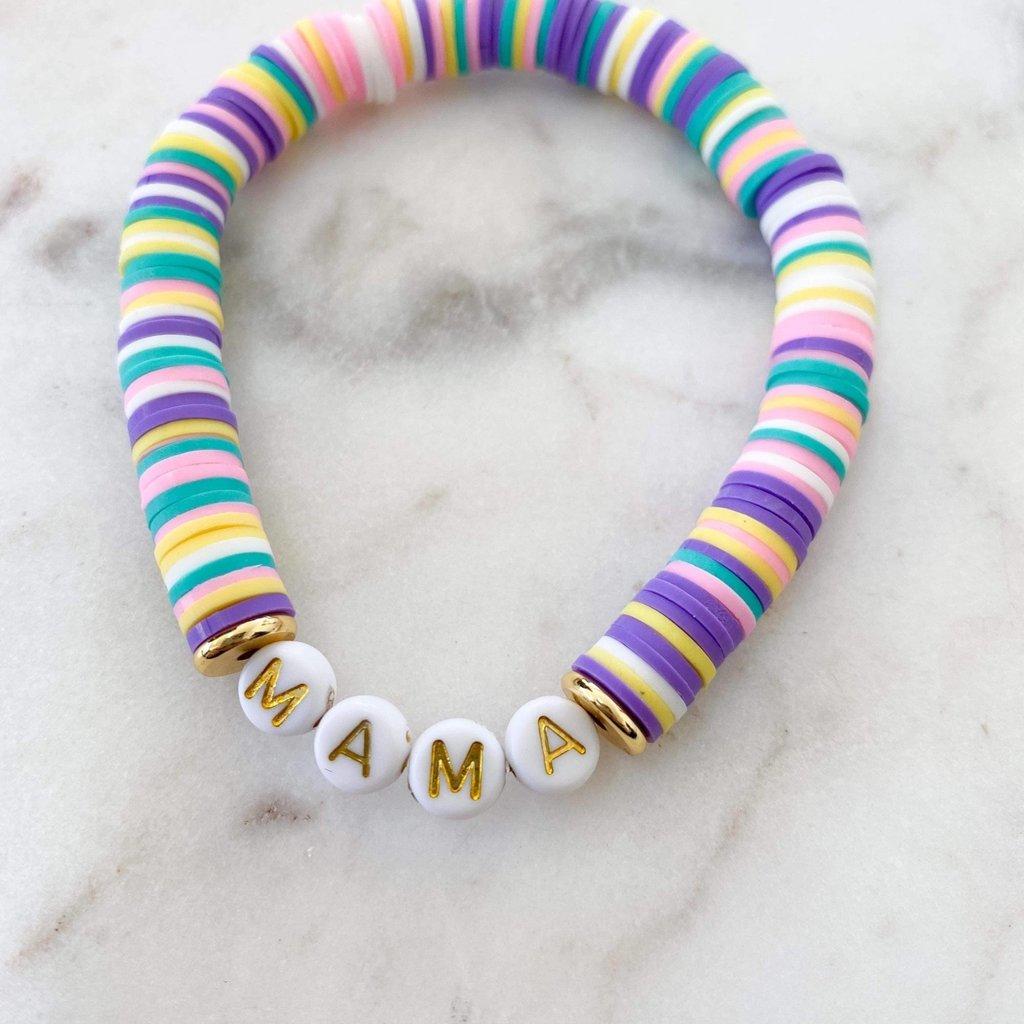 Lovelybeadz Mama Pastel Color Pop Bracelet
