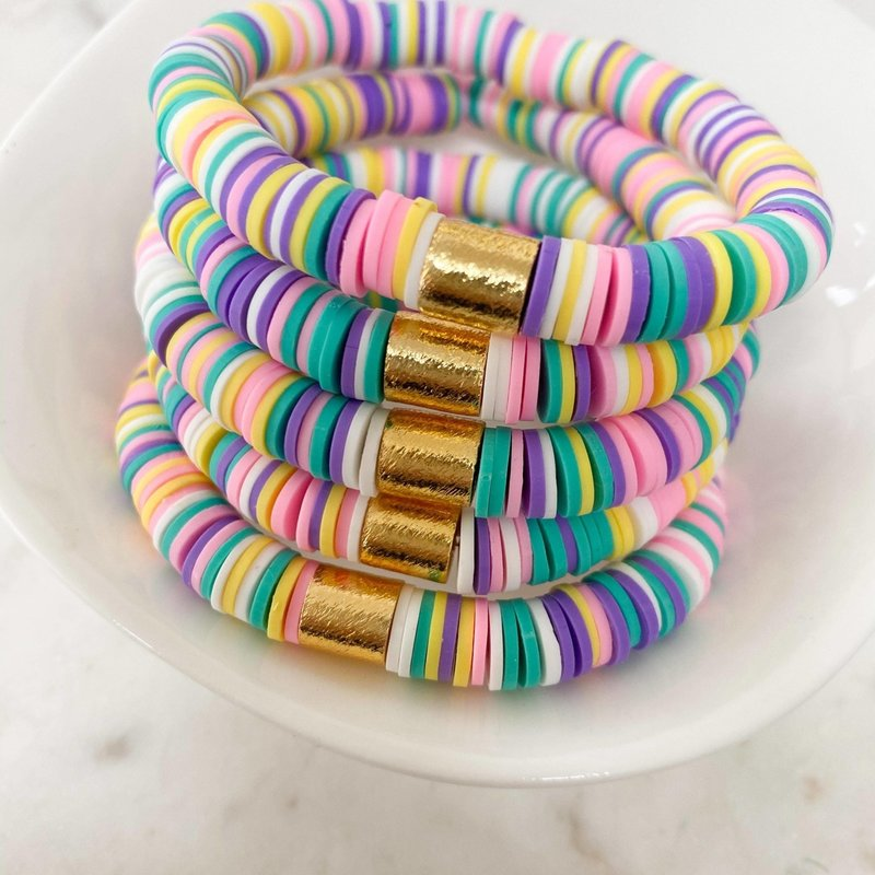 Lovelybeadz Kids Pastel Rainbow Color Pop Bracelet