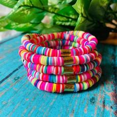 Lovelybeadz Bright Rainbow Color Pop Bracelet
