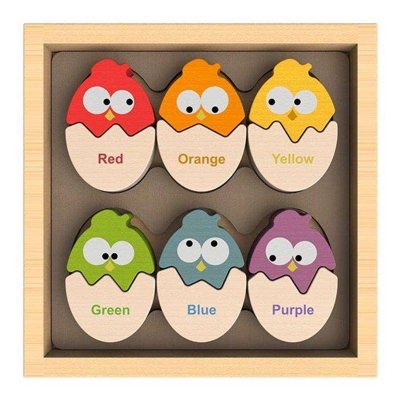 Begin Again Kids Color 'N Eggs - Bilingual Matching Puzzle