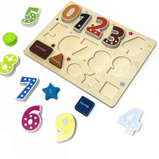 Begin Again Kids Number & Shape Puzzle Shape Sorter
