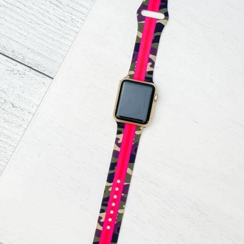 Prep Obsessed Camo Hot Pink Apple Watch Band 38/40