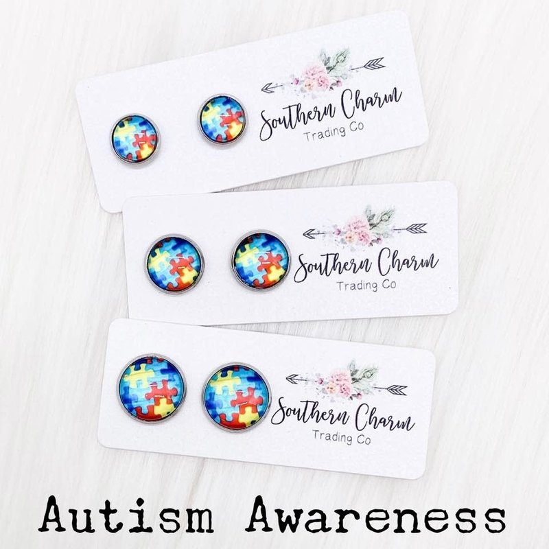 Southern Charm Trading Co Autism Awareness Earrings