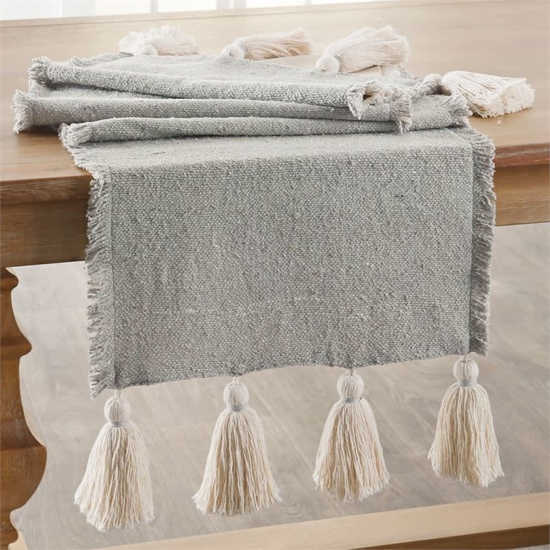 Mud Pie Mud Pie Gray Ponchaa Table Runner
