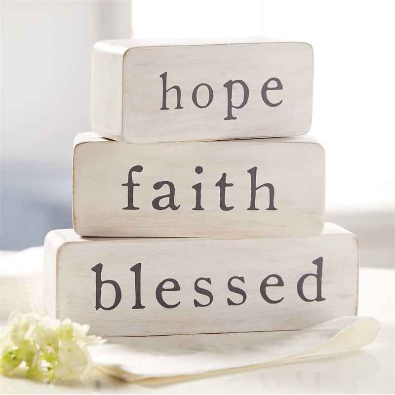 Mud Pie Mud Pie Hope Faith Blessed Blocks