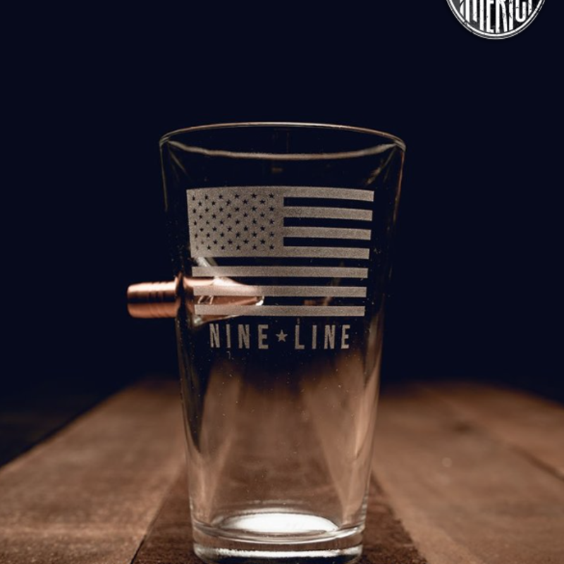 NINE LINE Nine Line .50 Cal Pint Glass