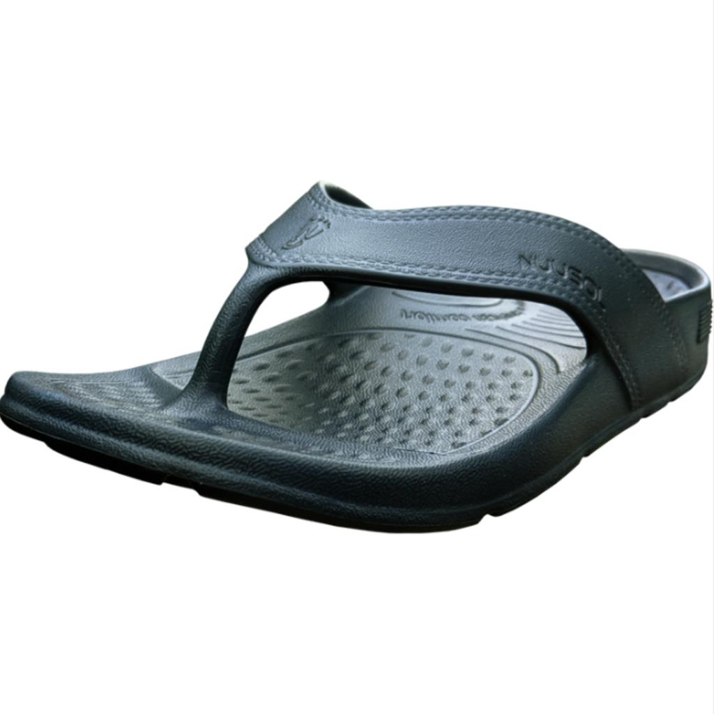 NuuSol NuuSol Unisex Cascade Black Flip Flops