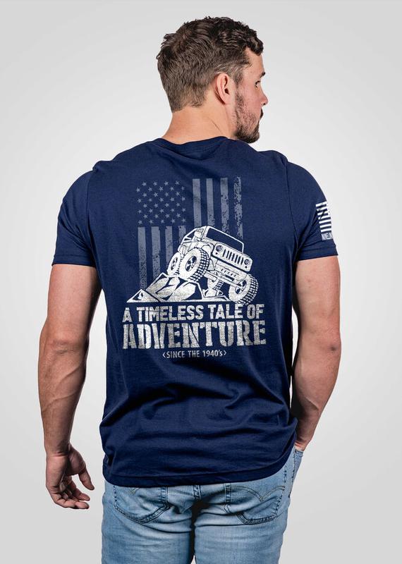 NINE LINE Men's Nine Line Navy Jeep Adventure Tee (S-3XL)
